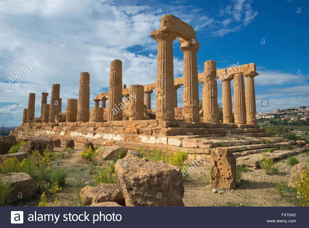Temple of Juno, Valley of the Temples, Agrigento, Sicily, Italy - Stock Image