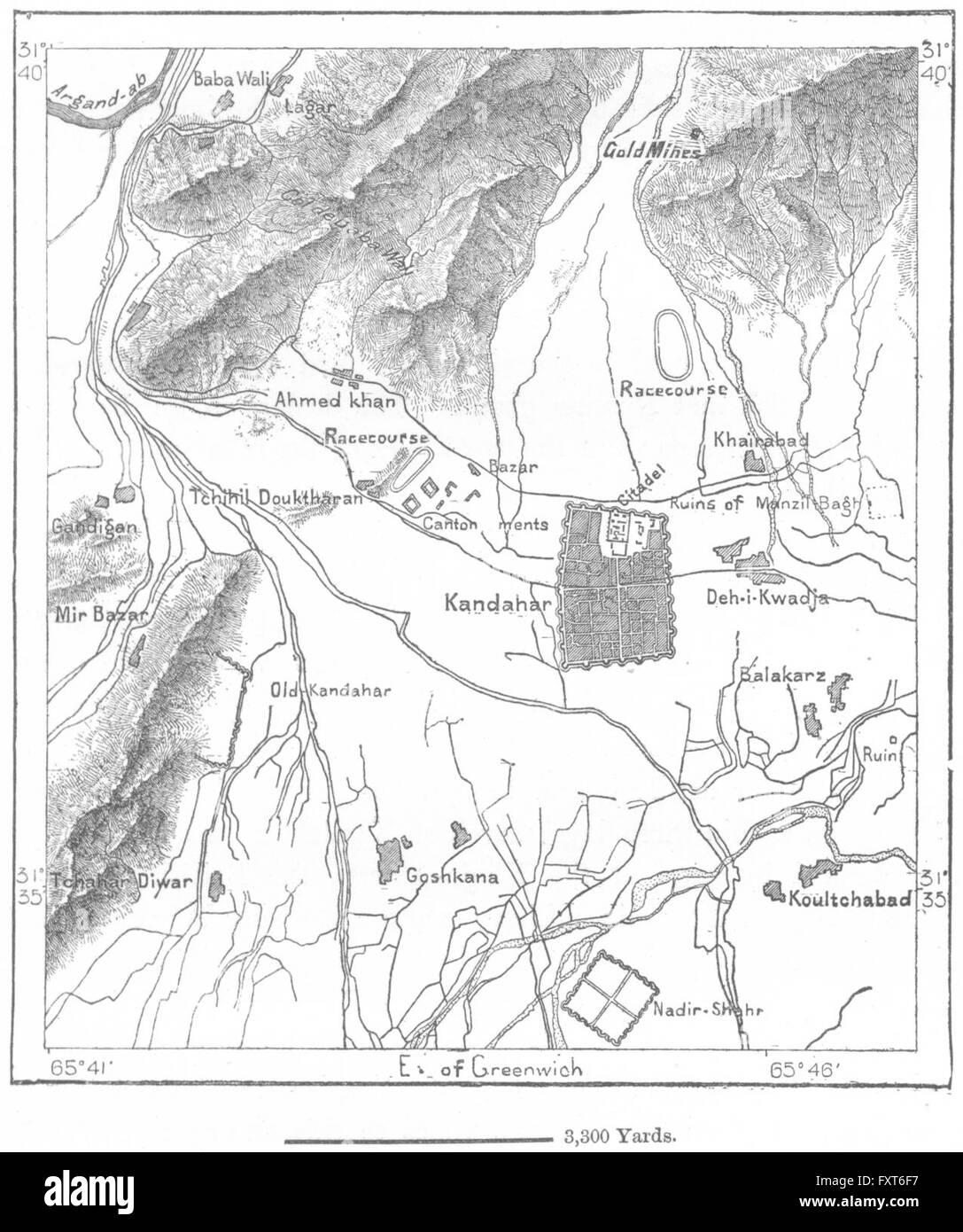Kandahar Map Stock Photos Kandahar Map Stock Images Alamy