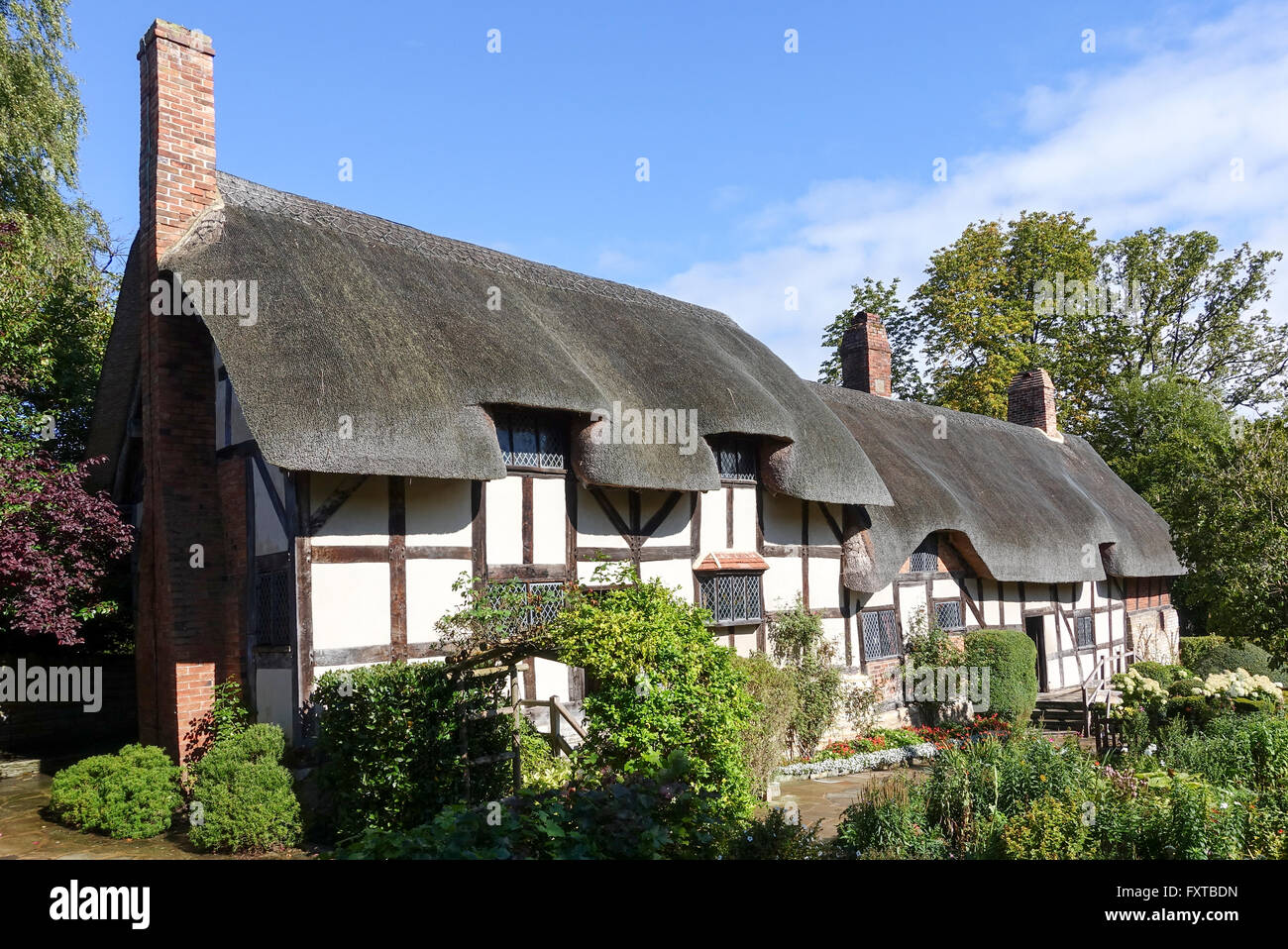 Anne Hathaway's Cottage, Shottery, Warwickshire, UK -2 - Stock Image