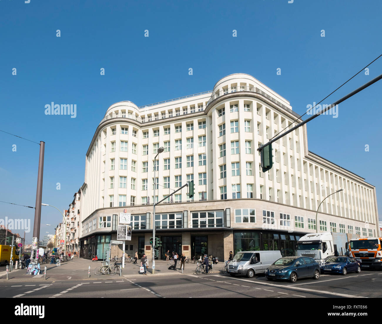 Exterior view of SOHO House hotel in Mitte Berlin Germany - Stock Image