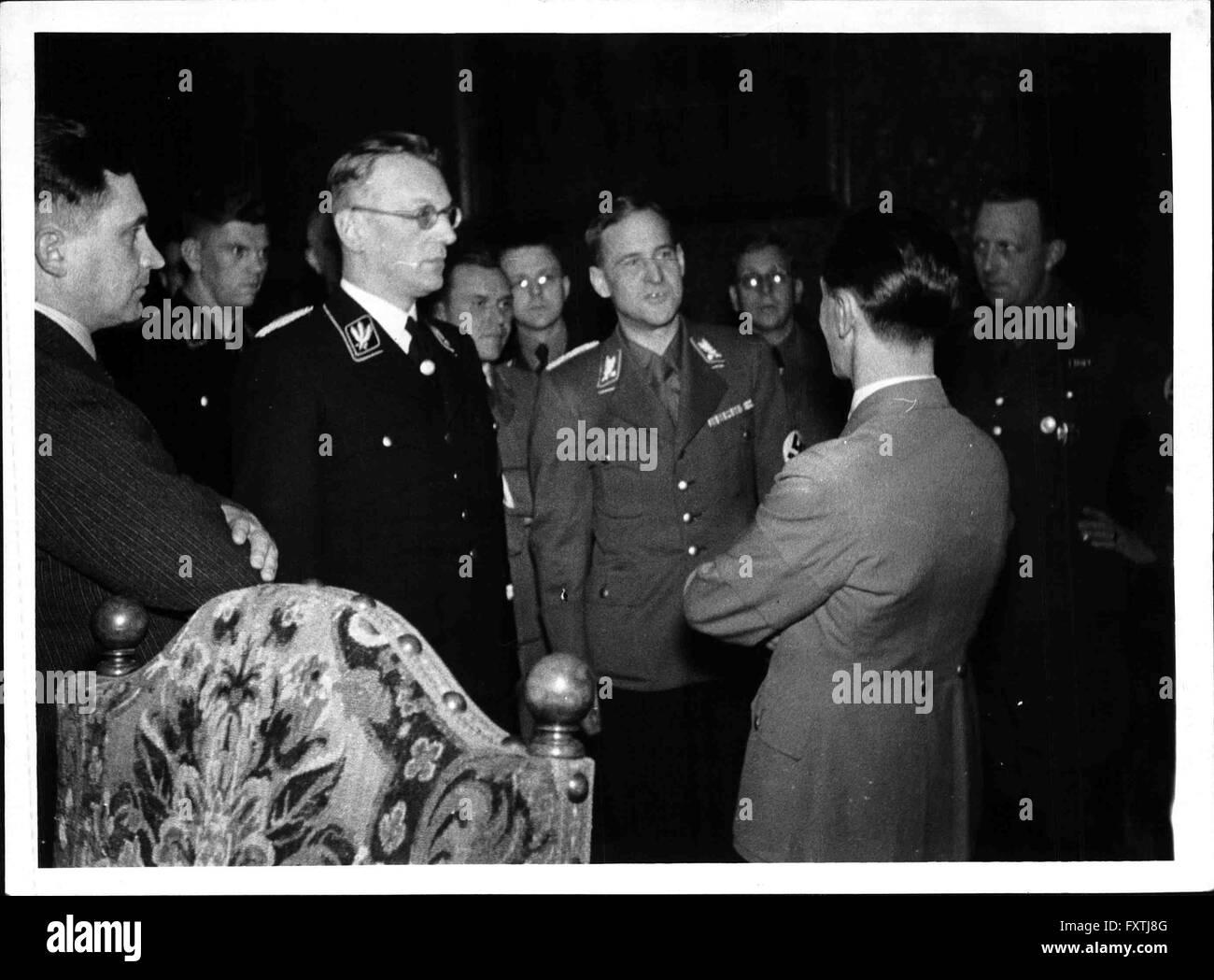 Empfang im Bürgermeisterzimmer im Wiener Rathaus - Stock Image