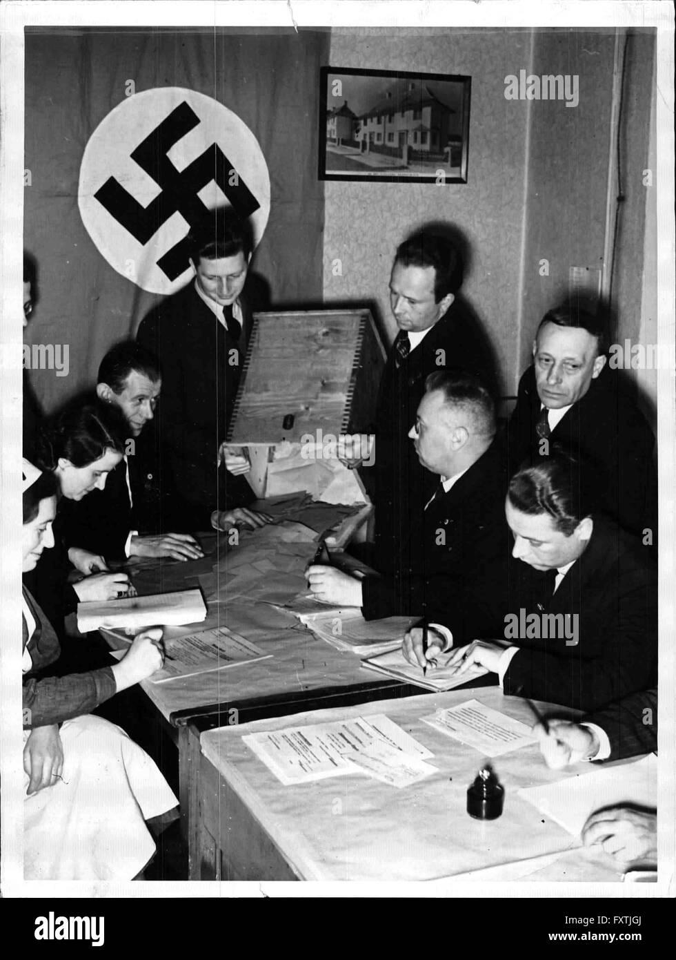 Die Volksabstimmung in Wien - Stock Image