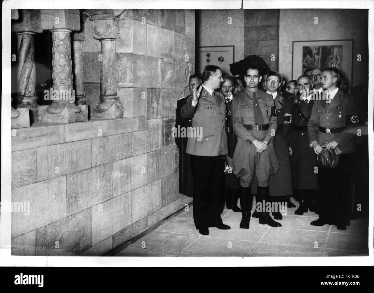 Eröffnung der Ausstellung 'Deutsche Größe' - Stock Image
