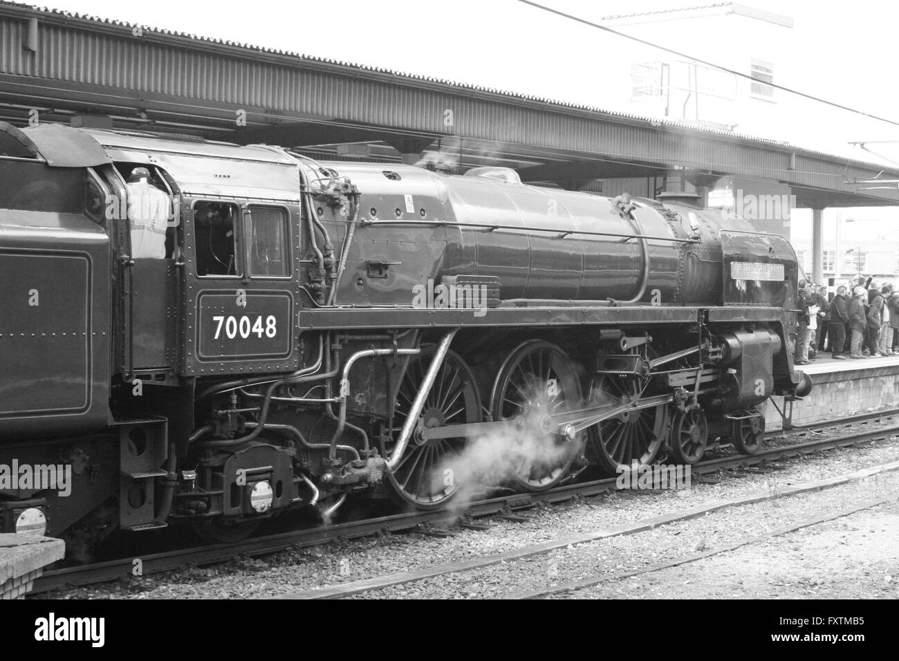 BR Standard Pacific at York - Stock Image