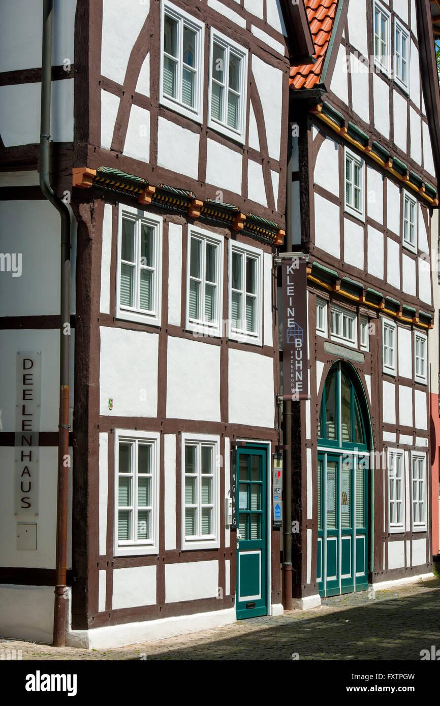 Deutschland, Nordrhein-Westfalen, Paderborn, Kraemerstrasse, Kleine Bühne Paderborn im Deelenhaus - Stock Image