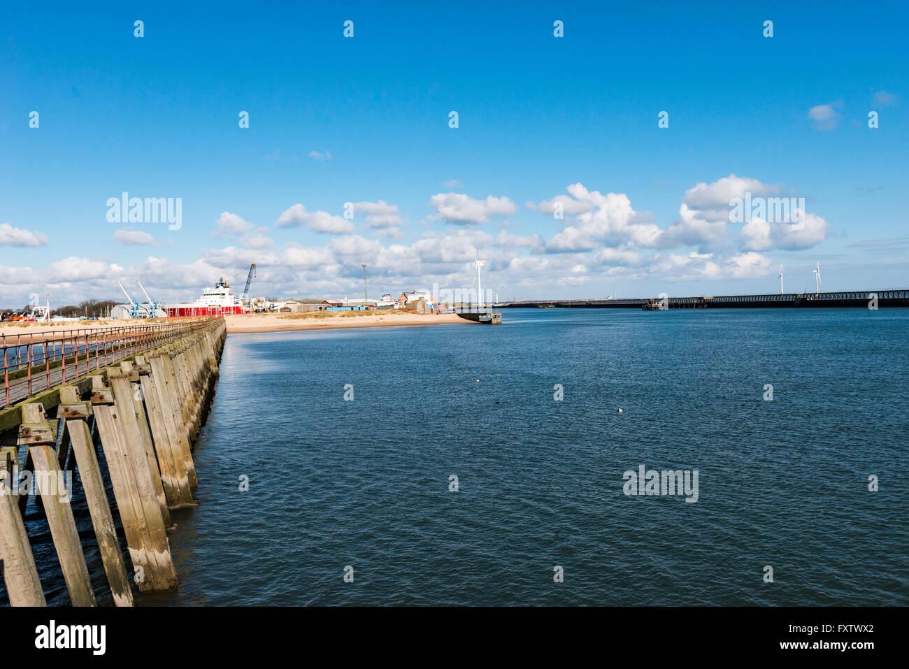 Blyth Pier - Stock Image