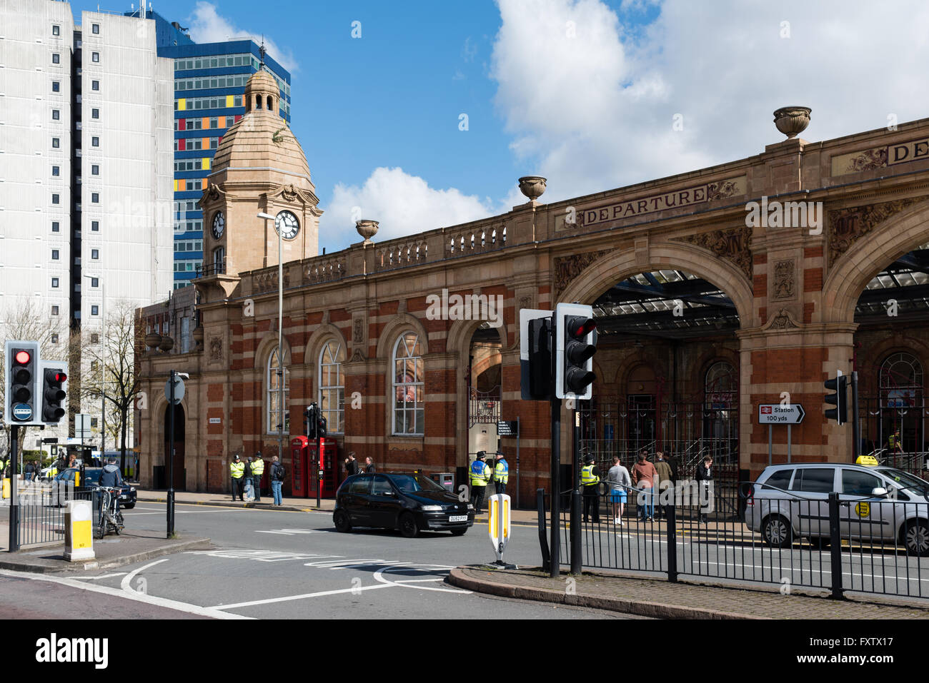 Leicester East Midlands Train Station,UK. - Stock Image