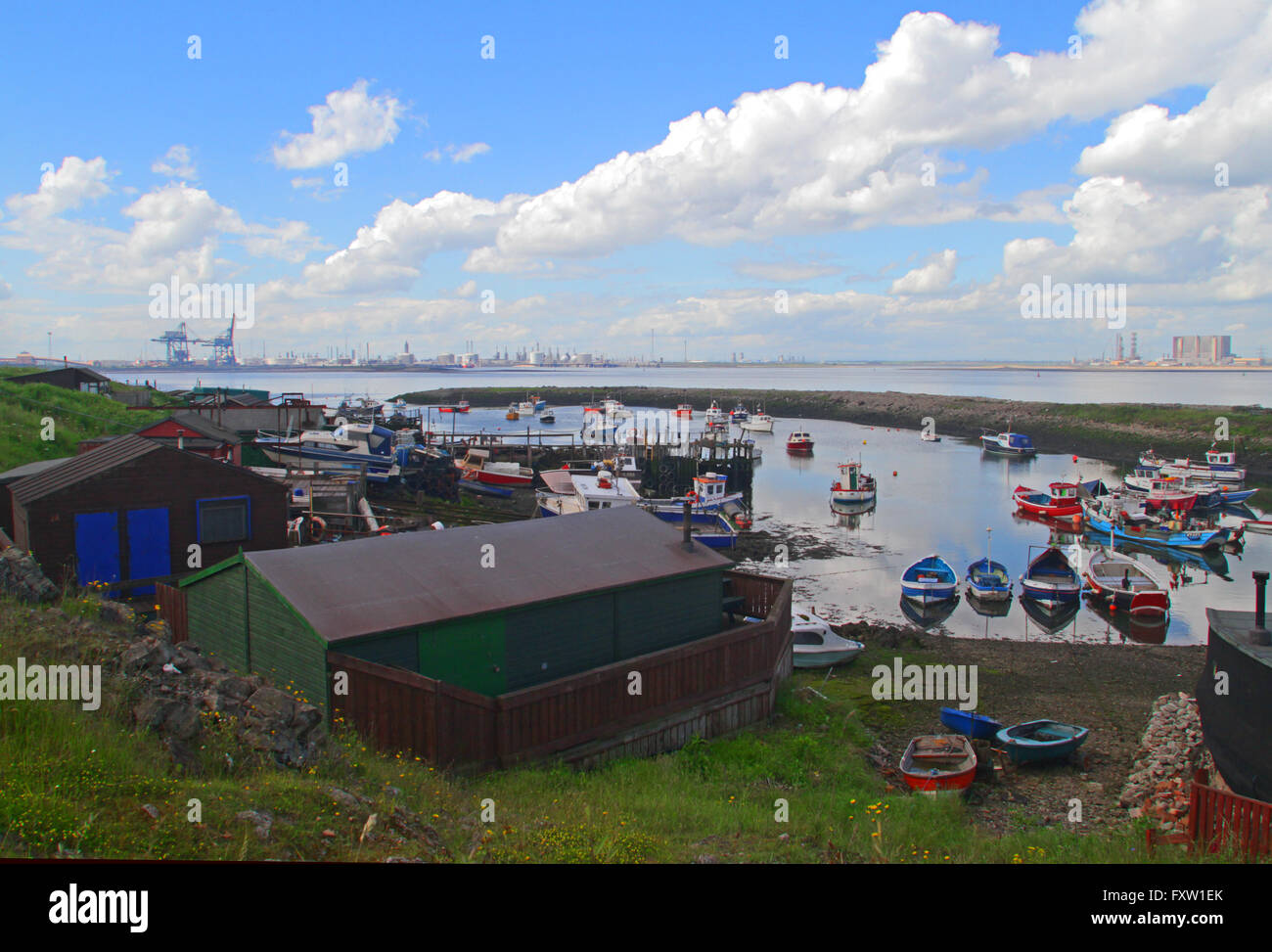 PADDY'S HOLE HARBOUR & TEES PORT SOUTH GARE REDCAR 09 June 2014 - Stock Image