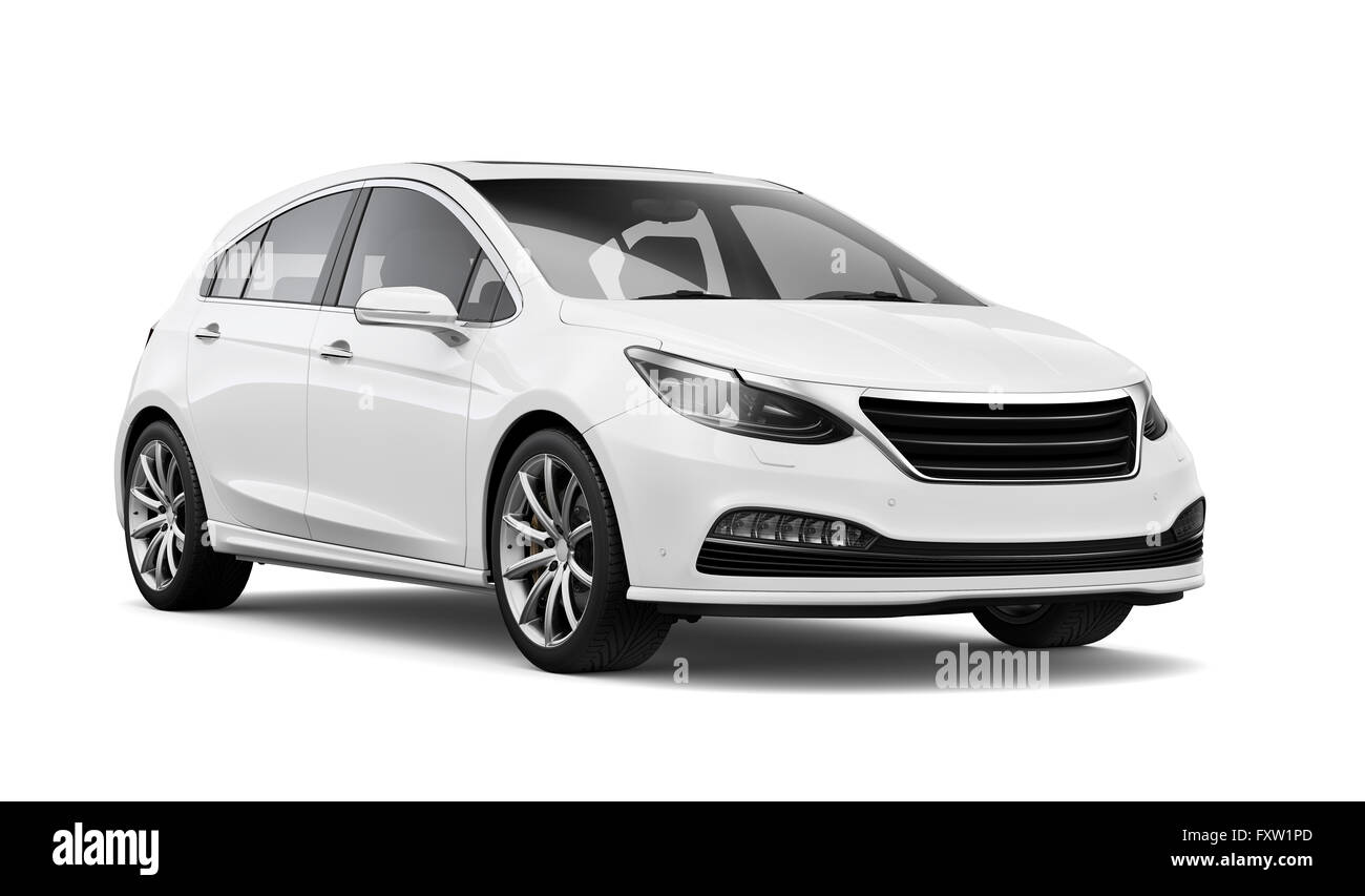 Generic hatchback car - Stock Image