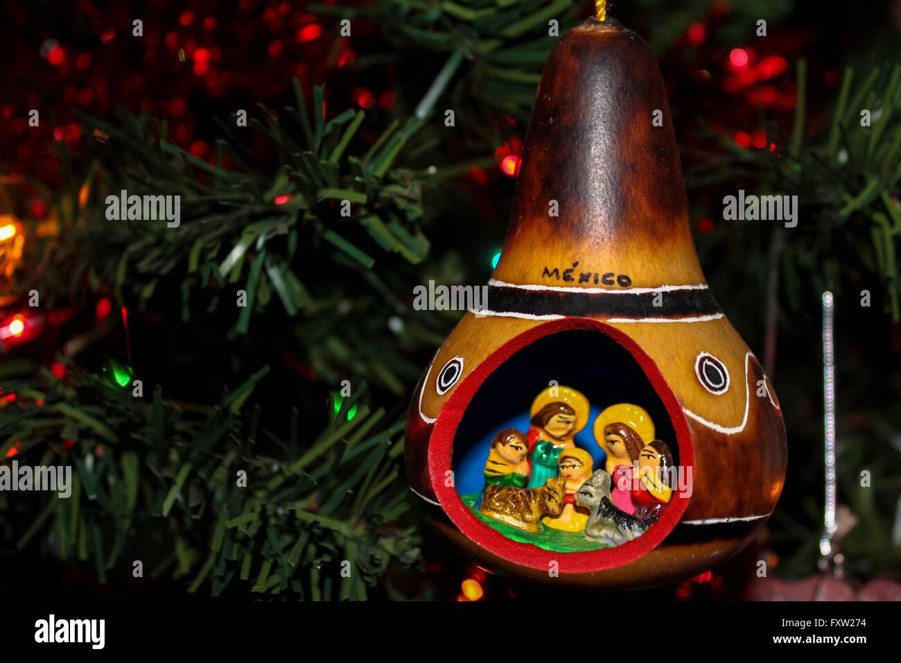 Nativity Christmas Tree Ornament Stock Photo Alamy