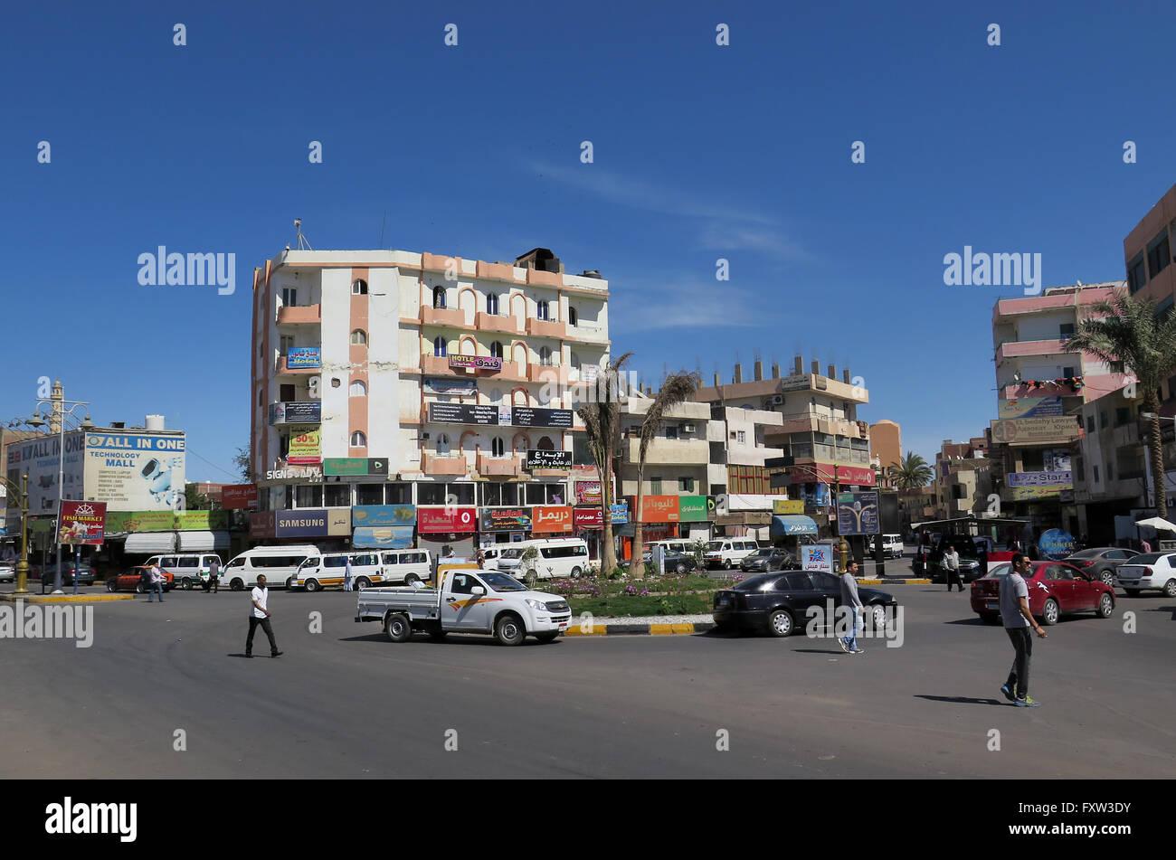 Strassenverkehr, Hurghada, Aegypten - Stock Image