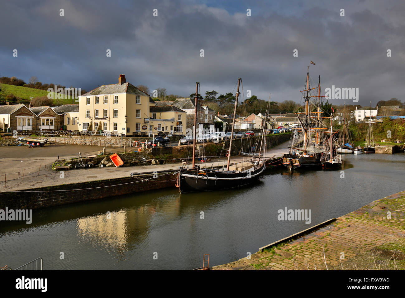 Charlestown; Harbour; Cornwall; UK - Stock Image