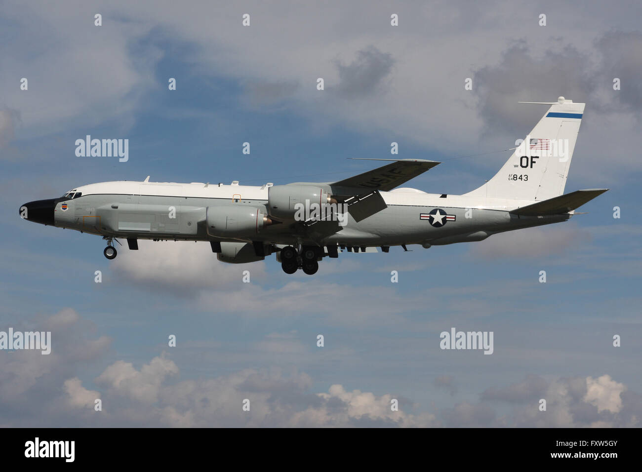 UNITED STATES AIR FORCE BOEING RC135W RIVET JOINT - Stock Image