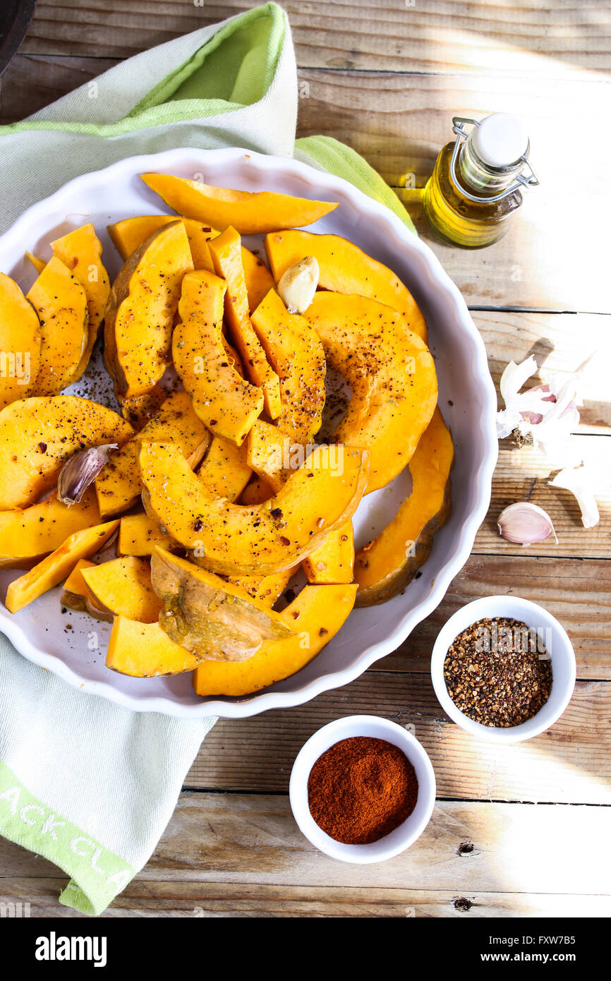 Pumpkin and spices - Stock Image