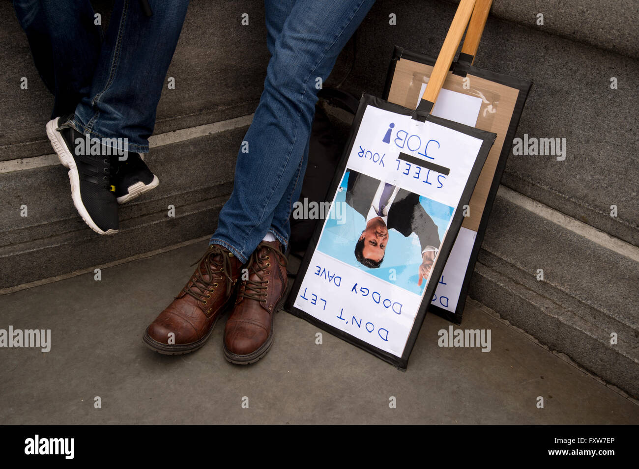 March organized by the People's Assembly, demonstrators protest  against austerity - Stock Image
