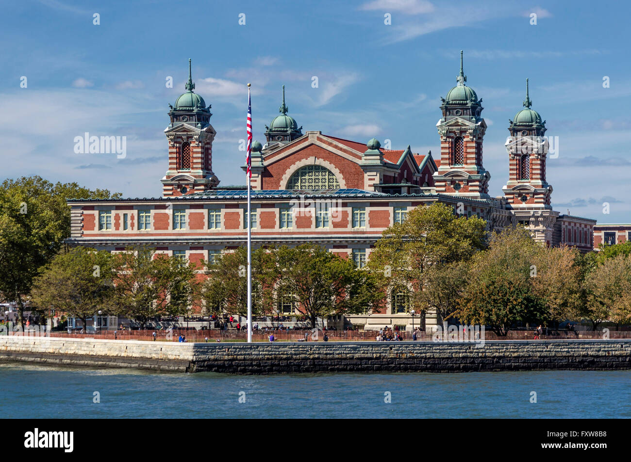 Ellis Island, the symbol of American immigration and the immigrants, New York City. USA - Stock Image
