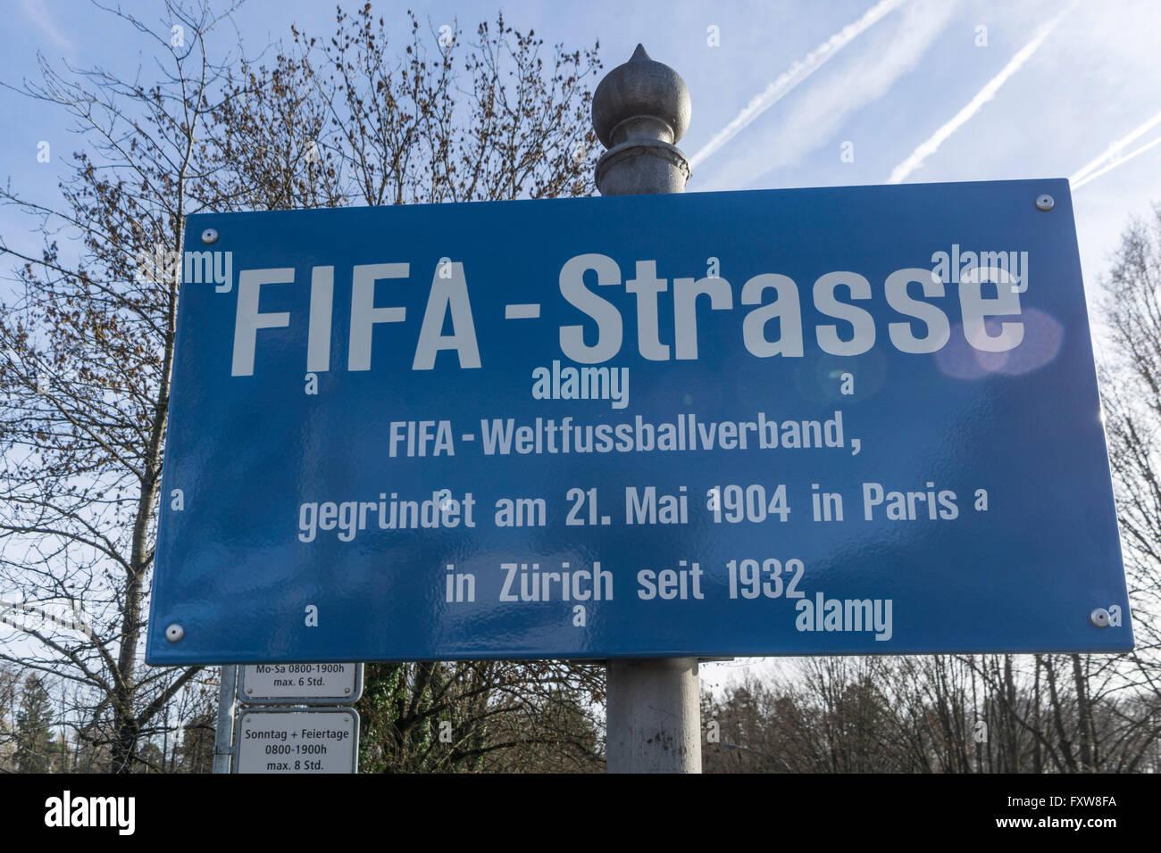 Fifa Street,  Fédération Internationale de Football Association, Zurich - Stock Image