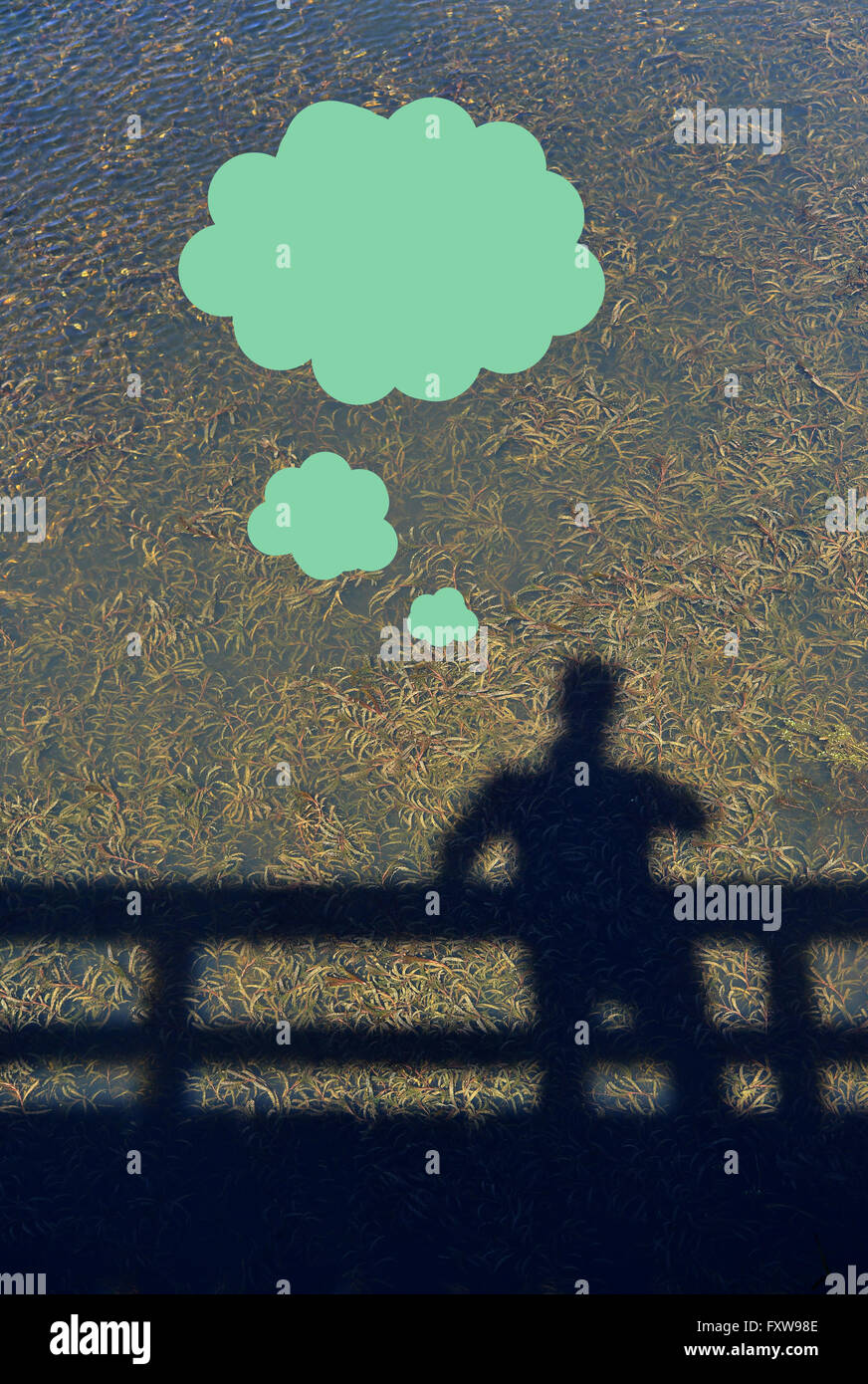 Think green illustration. Environmental considerations Stock Photo