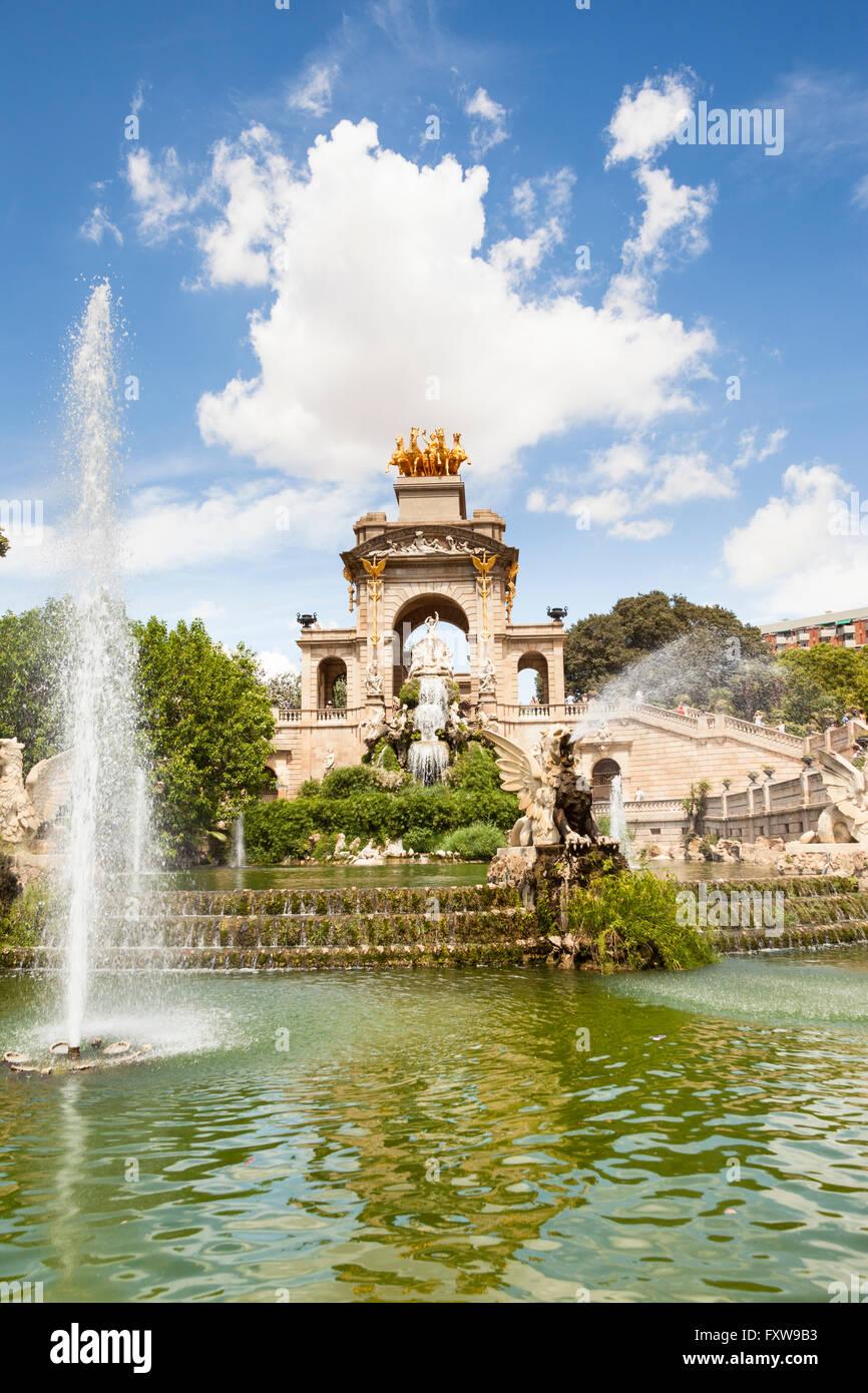 Font Monumental, Parc De La Ciutadella, Barcelona, Spain - Stock Image