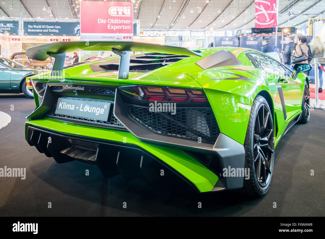 Mid-engined sports car Lamborghini Aventador LP 750-4 SuperVeloce, 2016. - Stock Image