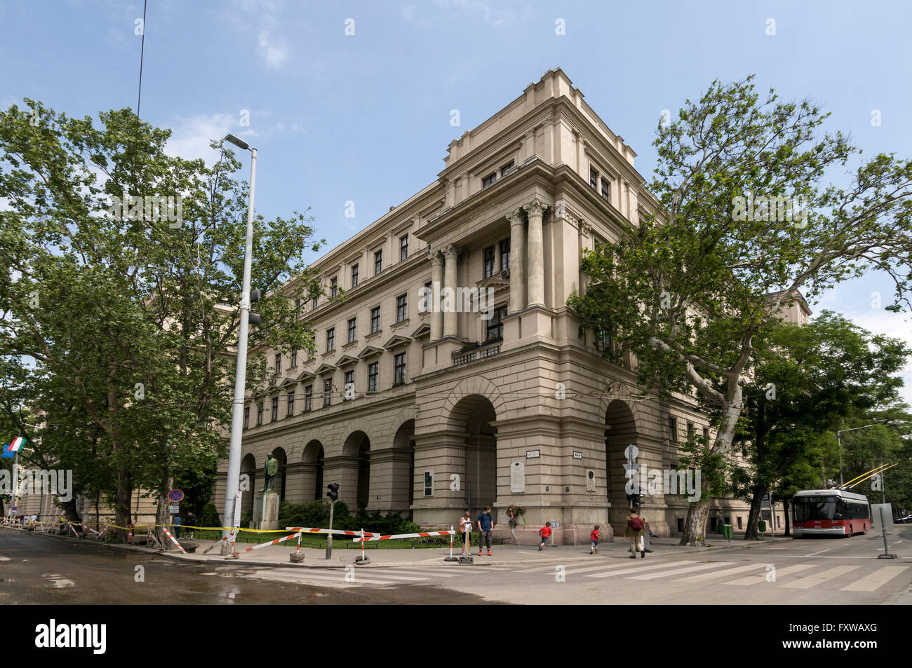 Ministry of Rural Development in Kossuth Lajos tér,Budapest,Hungary - Stock Image