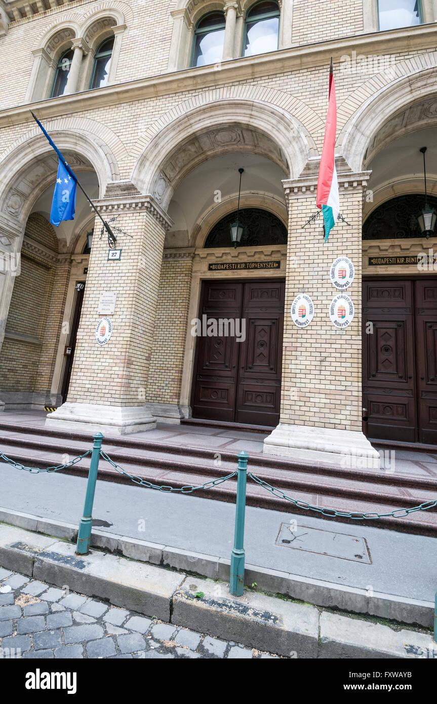 The Criminal District Court in Markó utca ,Budapest,Hungary