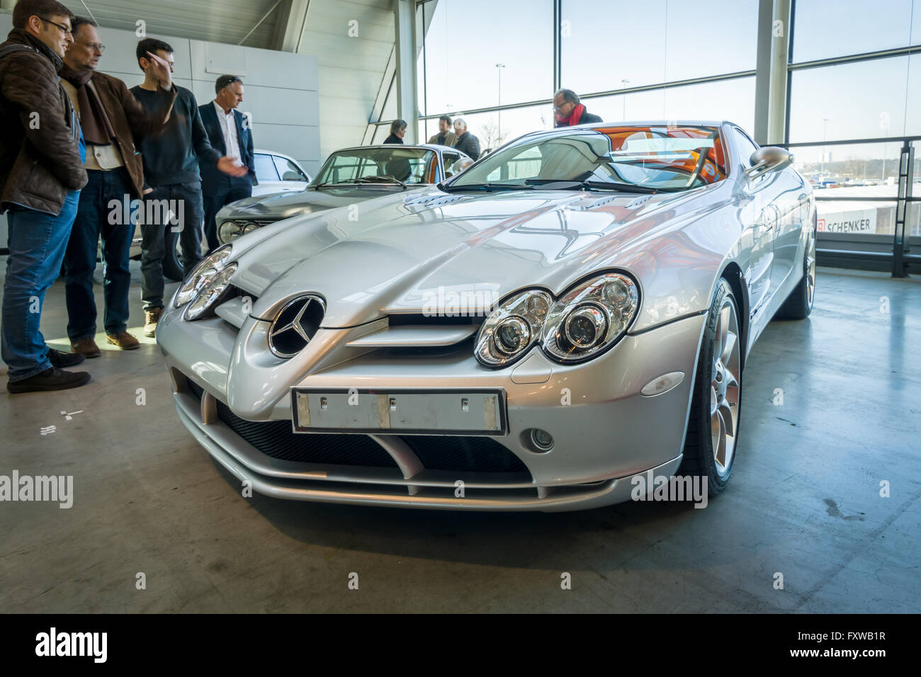 Grand tourer car Mercedes-Benz SLR McLaren, 2006. - Stock Image