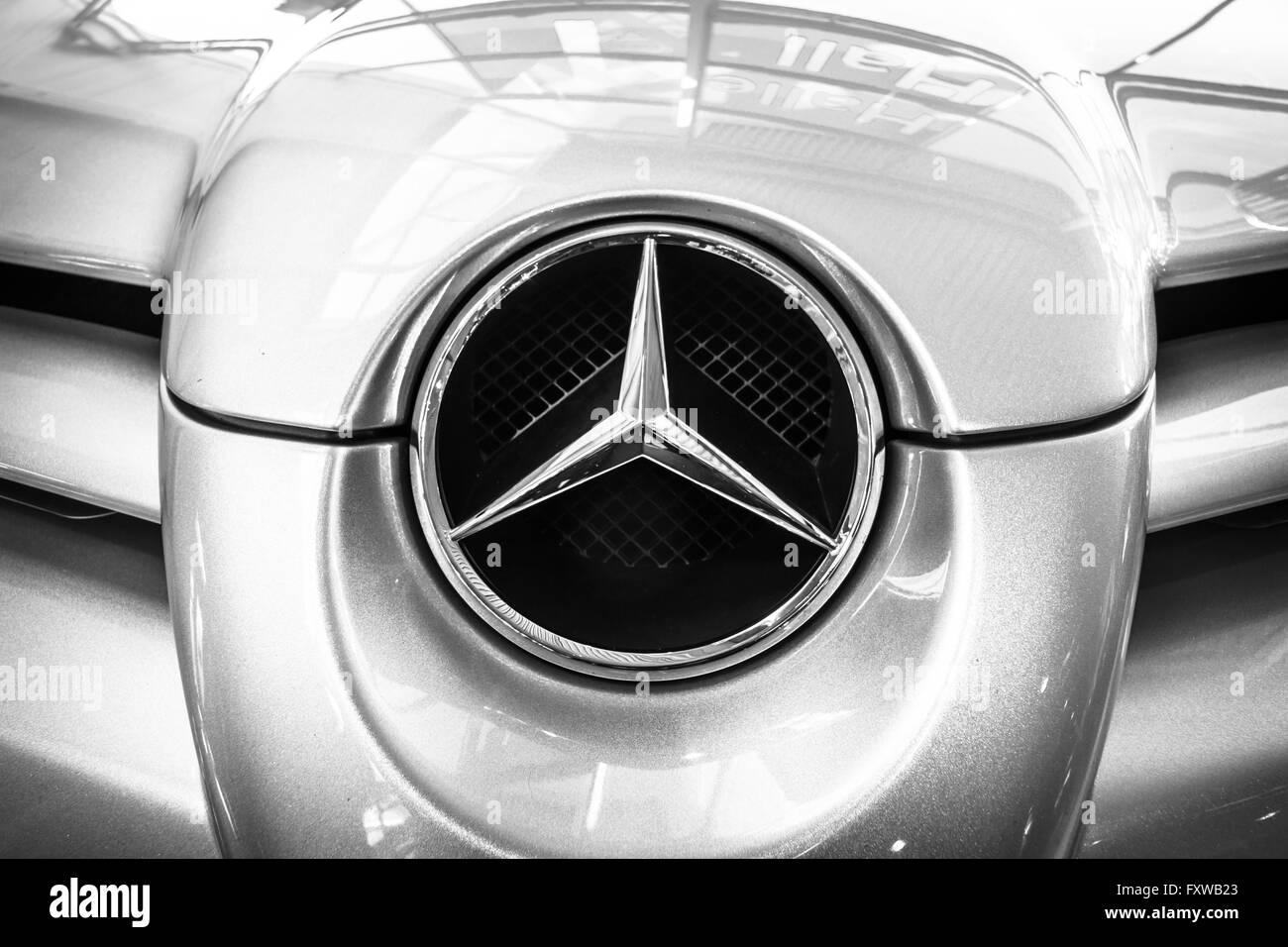 Fragment of a grand tourer car Mercedes-Benz SLR McLaren, 2006 - Stock Image