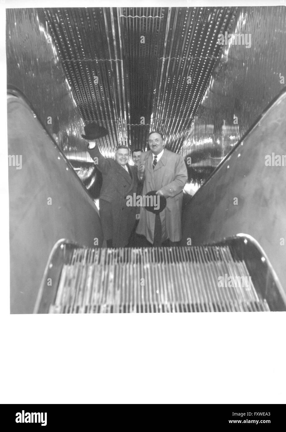Erste in Österreich gebaute Rolltreppe - Stock Image