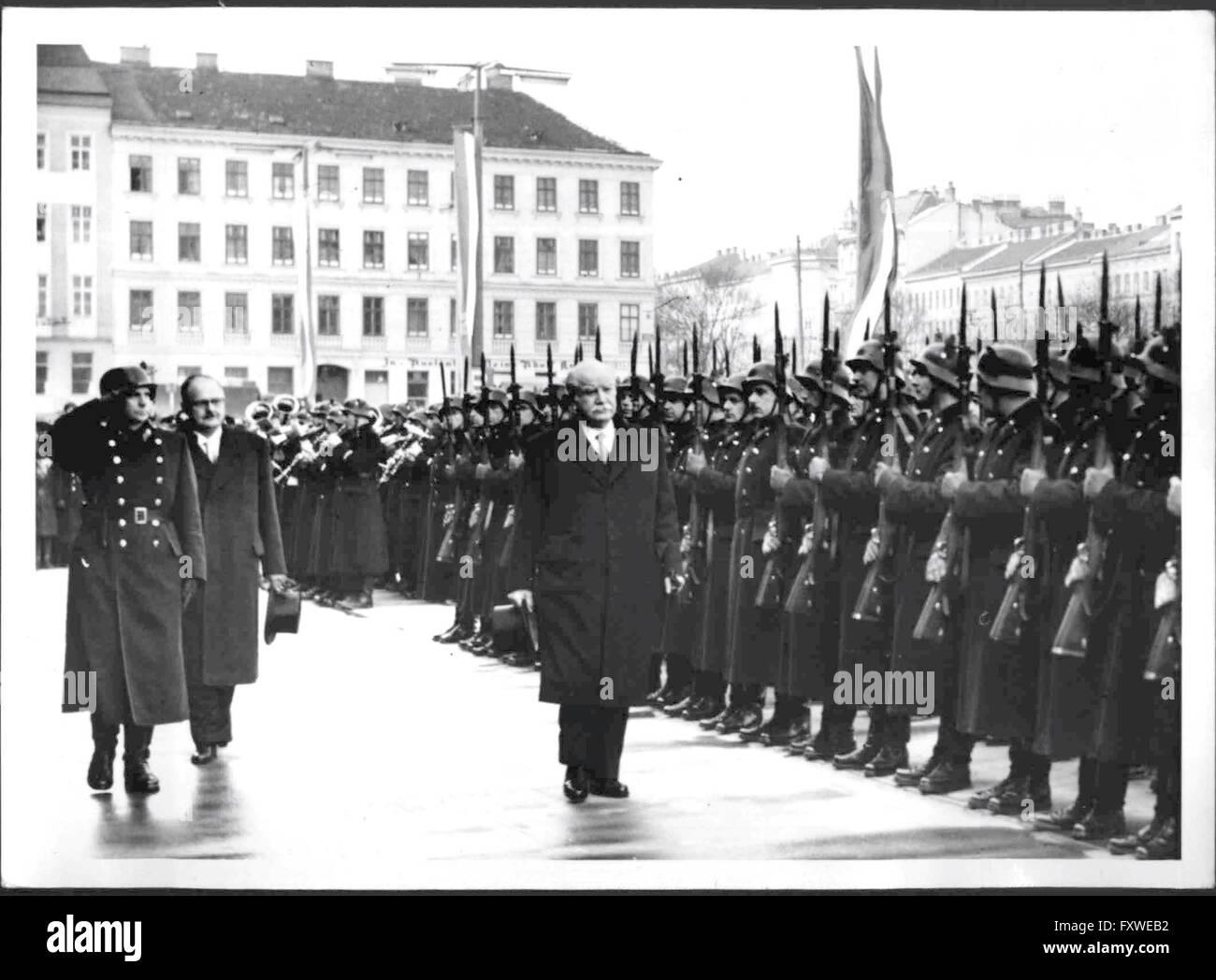 Ankunft des Regierungspräsidenten von Luxemburg Joseph Bech - Stock Image