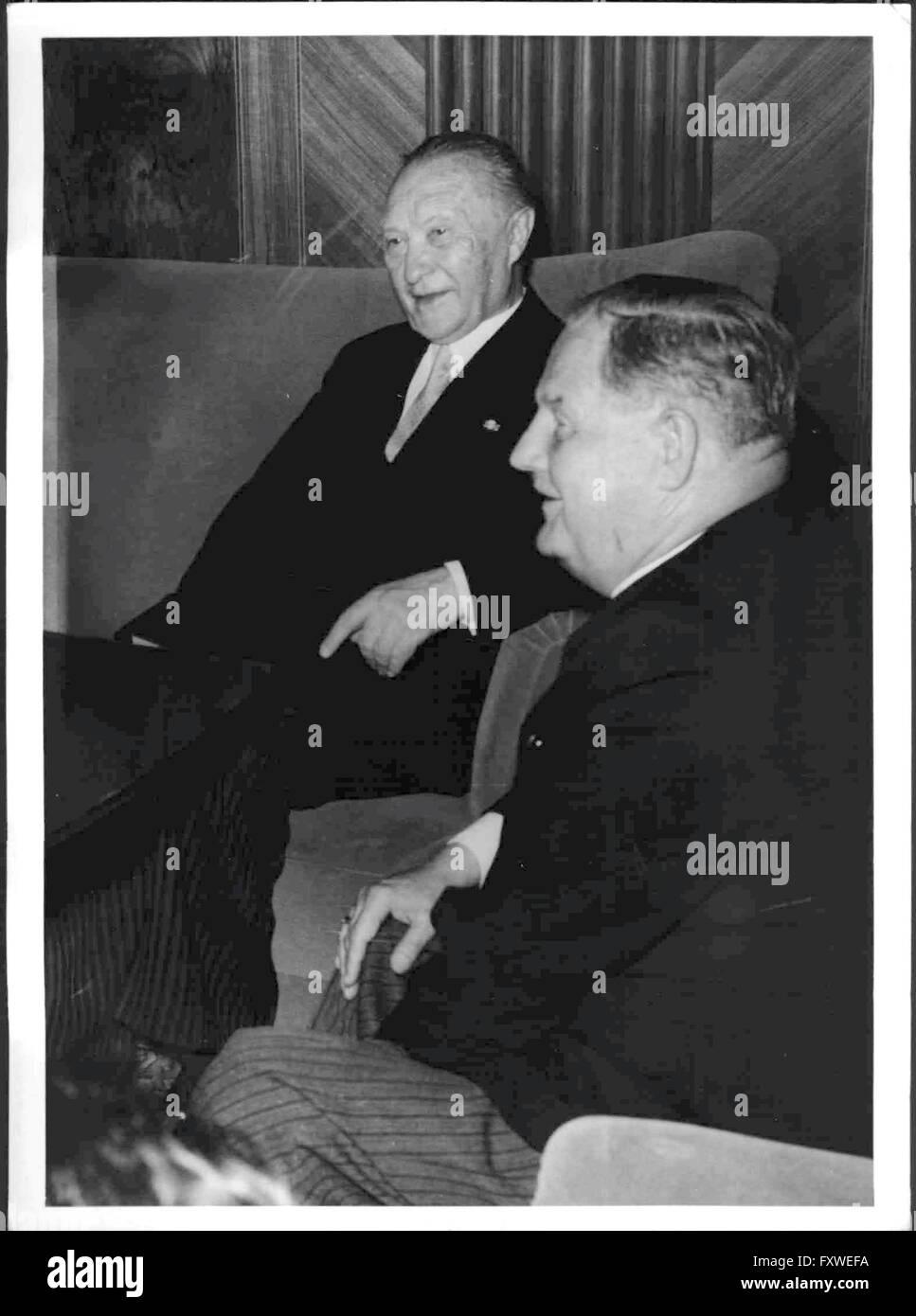 Adenauer in Wien - Stock Image
