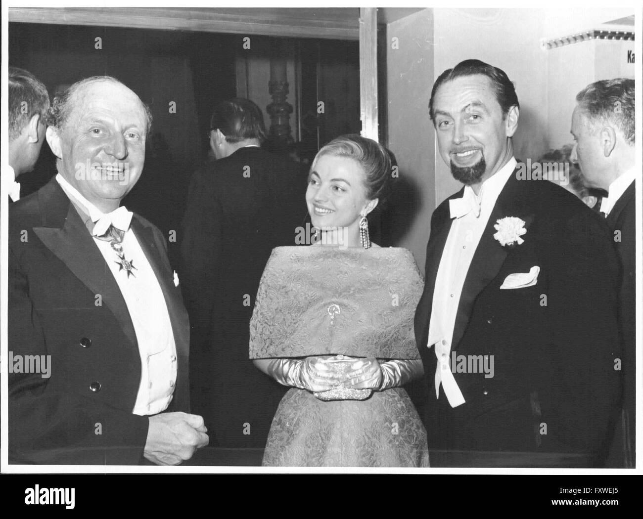 Wiener Opernball - 1960, Hans Hass und seine Frau - Stock Image