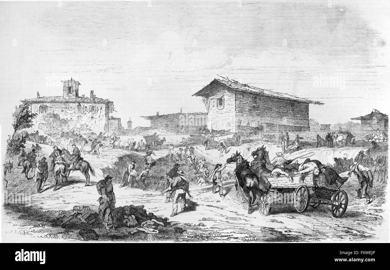 Schlacht bei Magenta 1859 - Stock Image