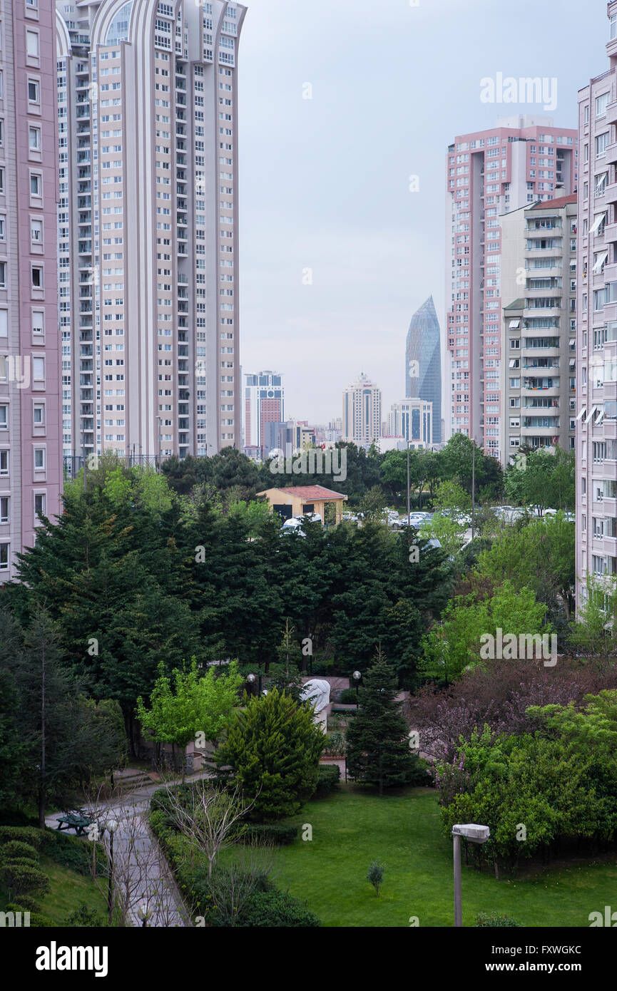 Atasehir is the new banking quarter of Istanbul - Stock Image
