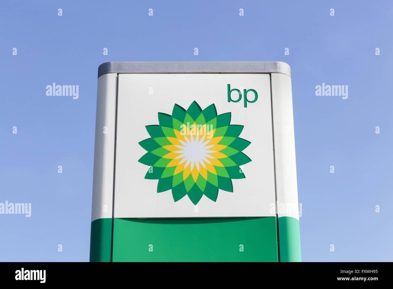 BP logo on a panel Stock Photo