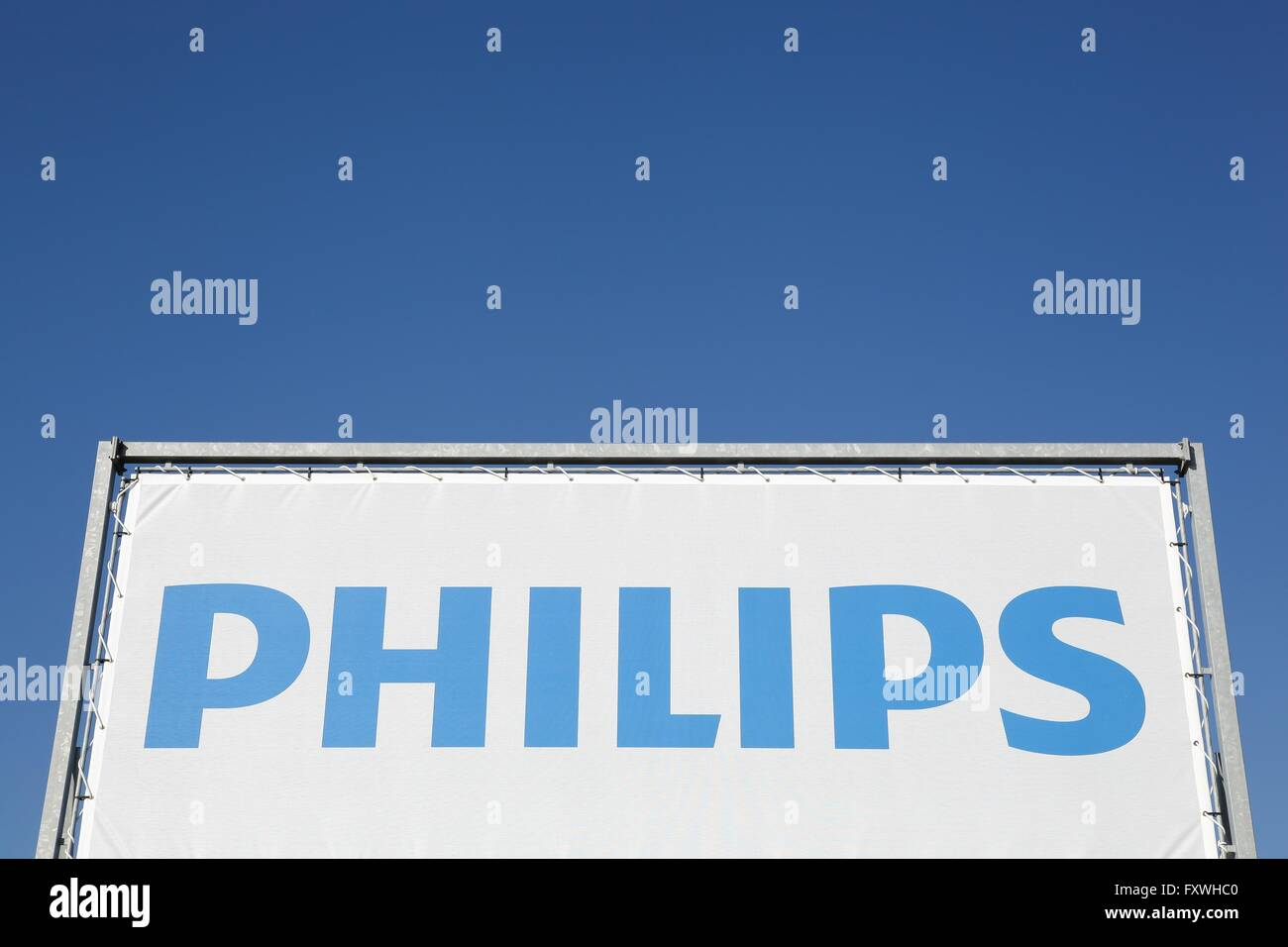 Philips sign on a banner - Stock Image