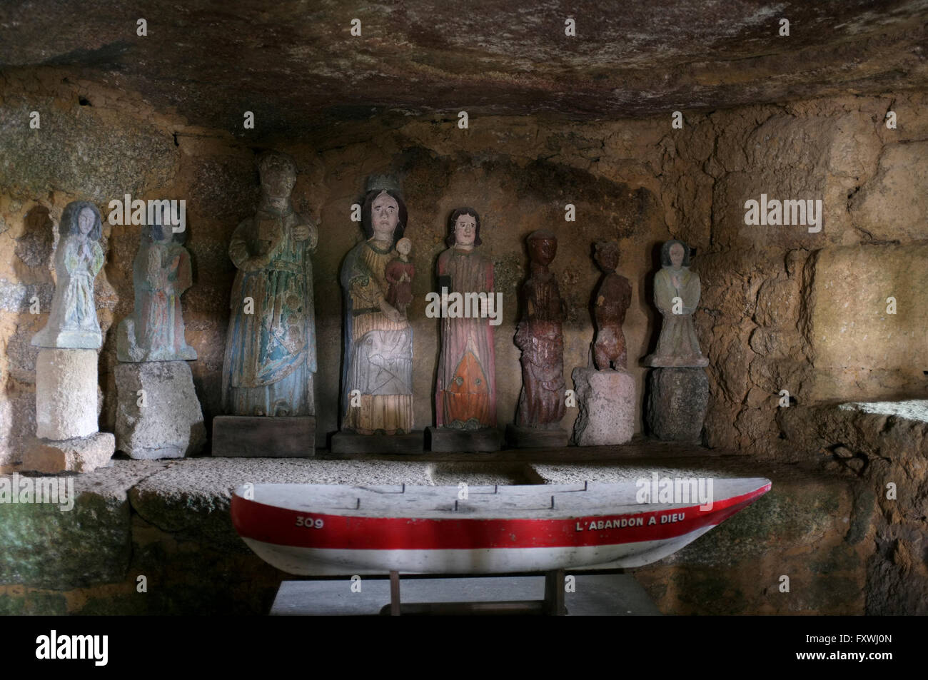 Shrine of the seven sleepers of Ephesus, Sept-Saints, Brittany - Stock Image