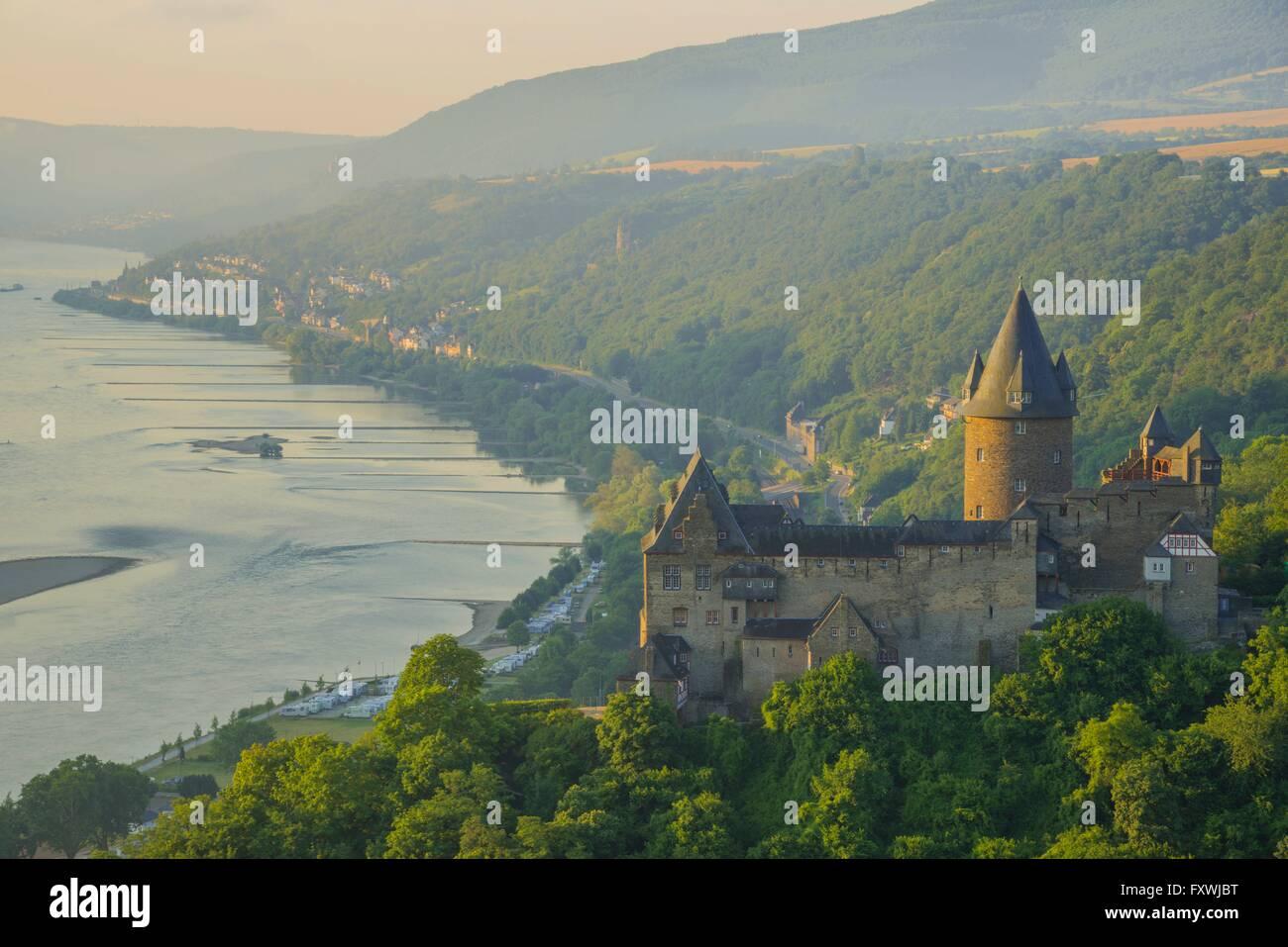 Jugendherberge Burg Stahleck, Jugendburg Stahleck, Bacharach am Rhein, UNESCO Welterbe Kulturlandschaft Oberes Mittelrheintal, Stock Photo