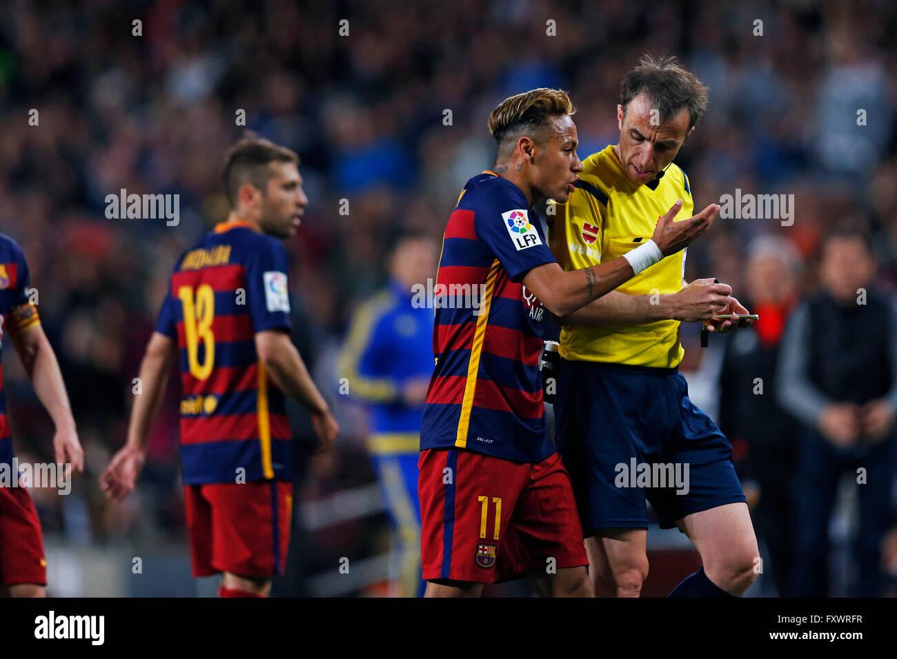 Neymar (Barcelona), APRIL 17 2016 - Football/Soccer : Spanish Primera Division 'Liga BBVA' match between - Stock Image