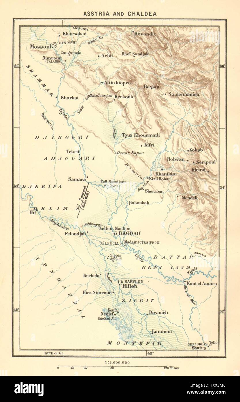 IRAQ: yria & Chaldea, c1885 antique map Stock Photo ... on world genocide map, phoenicia map, byzantine empire map, persian people map, eurasian steppe map, persia map, tenochtitlan aztec empire map, babylonian captivity map, canaan map, the land of shinar map, iraq map, sea peoples map, ancient mesopotamia map, babylonia map, israel map, babylon map, assyria map, greece map, asia minor map, phoenicians map,