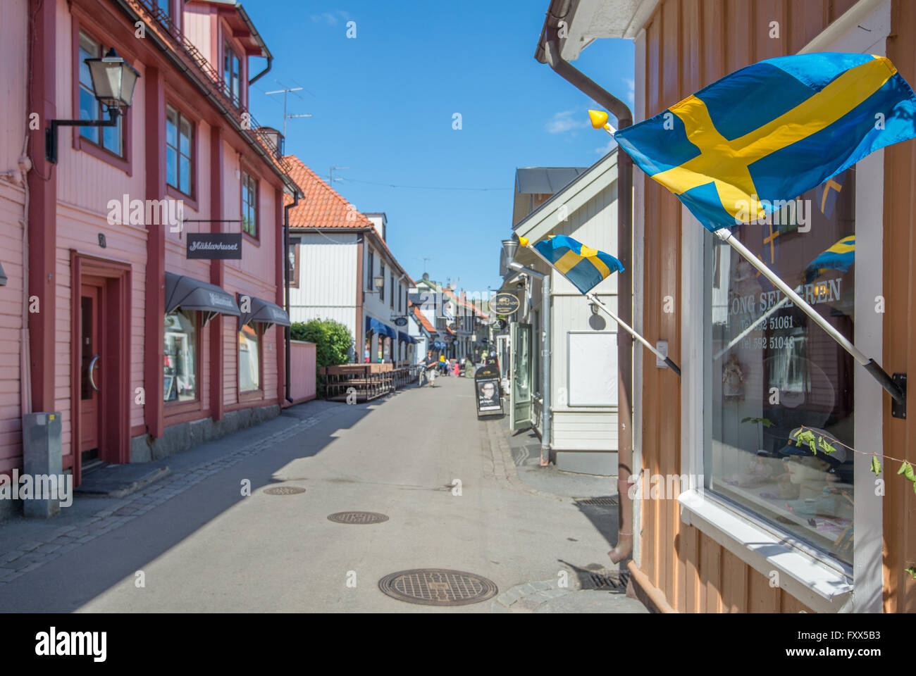 Sigtuna - the oldest town in Sweden - Stock Image