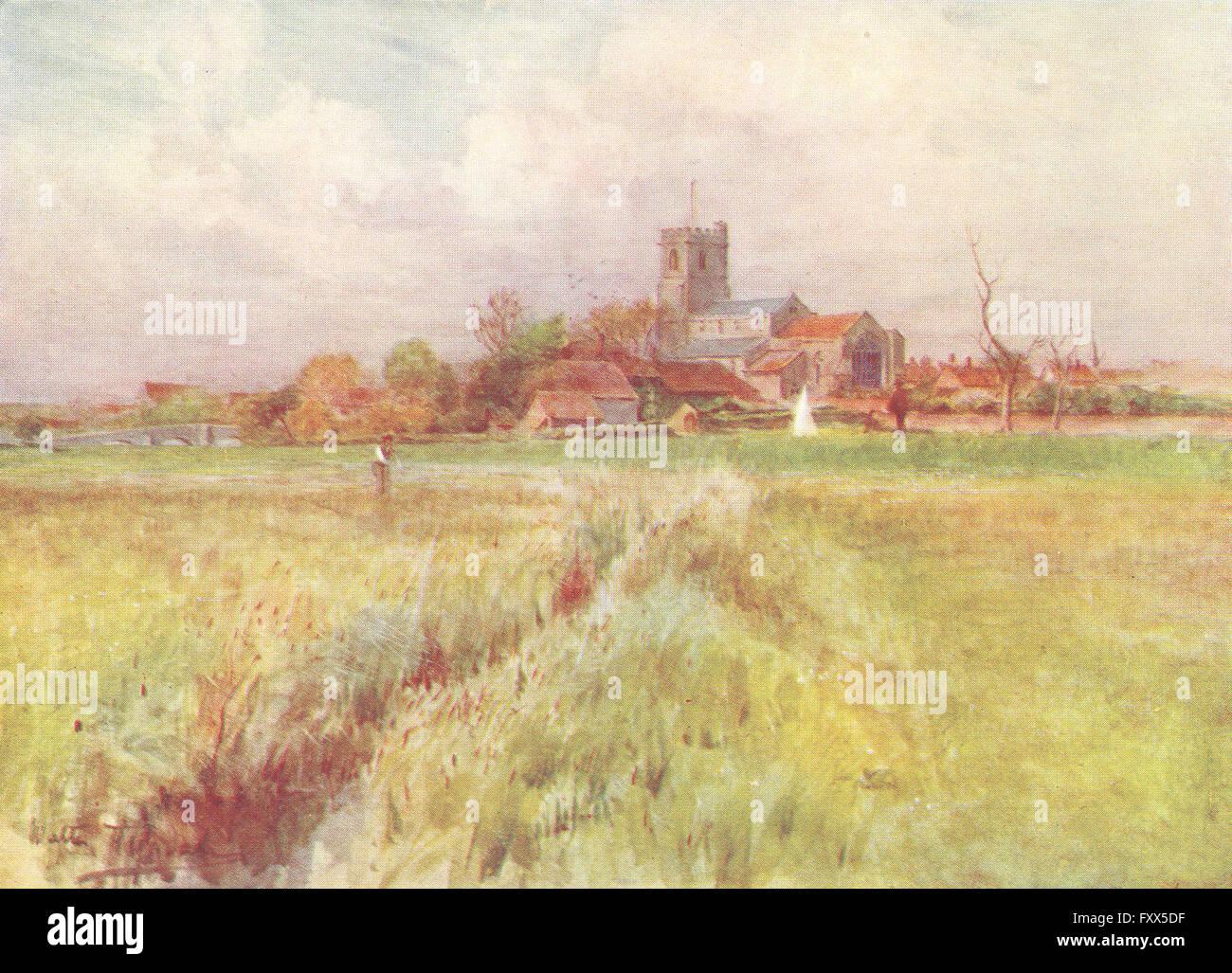 DORSET: Wareham Anglebury of Wessex Novels, antique print 1906 - Stock Image