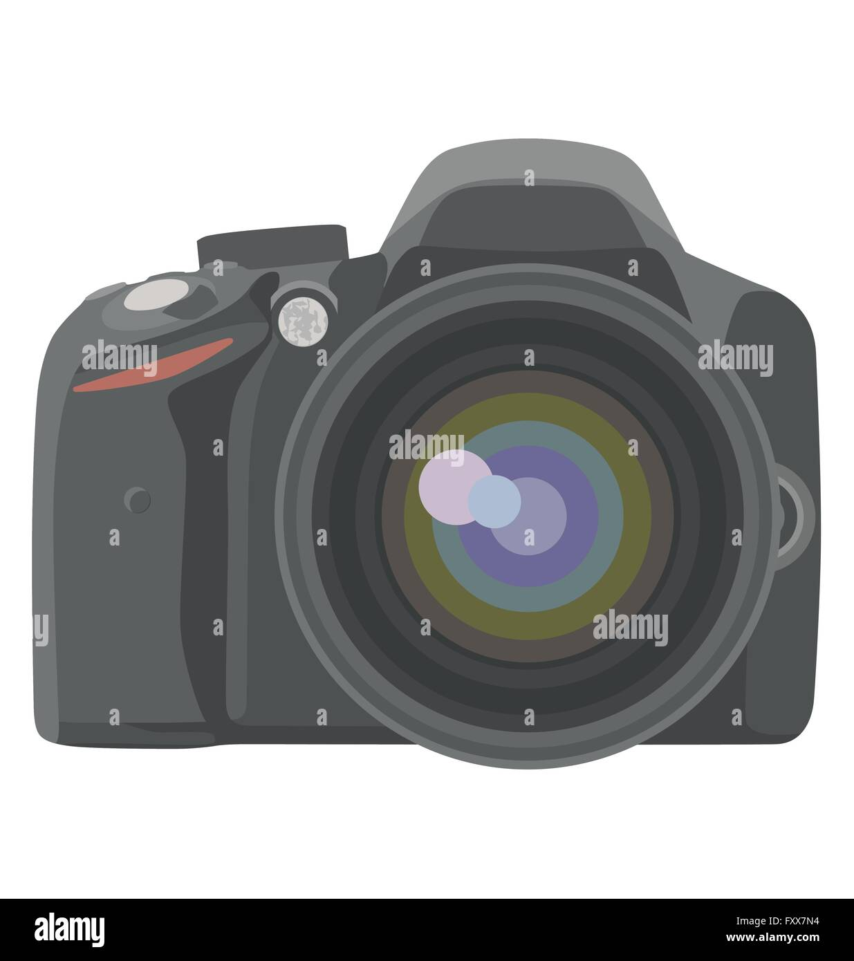 SLR photo camera. vector illustration - Stock Vector