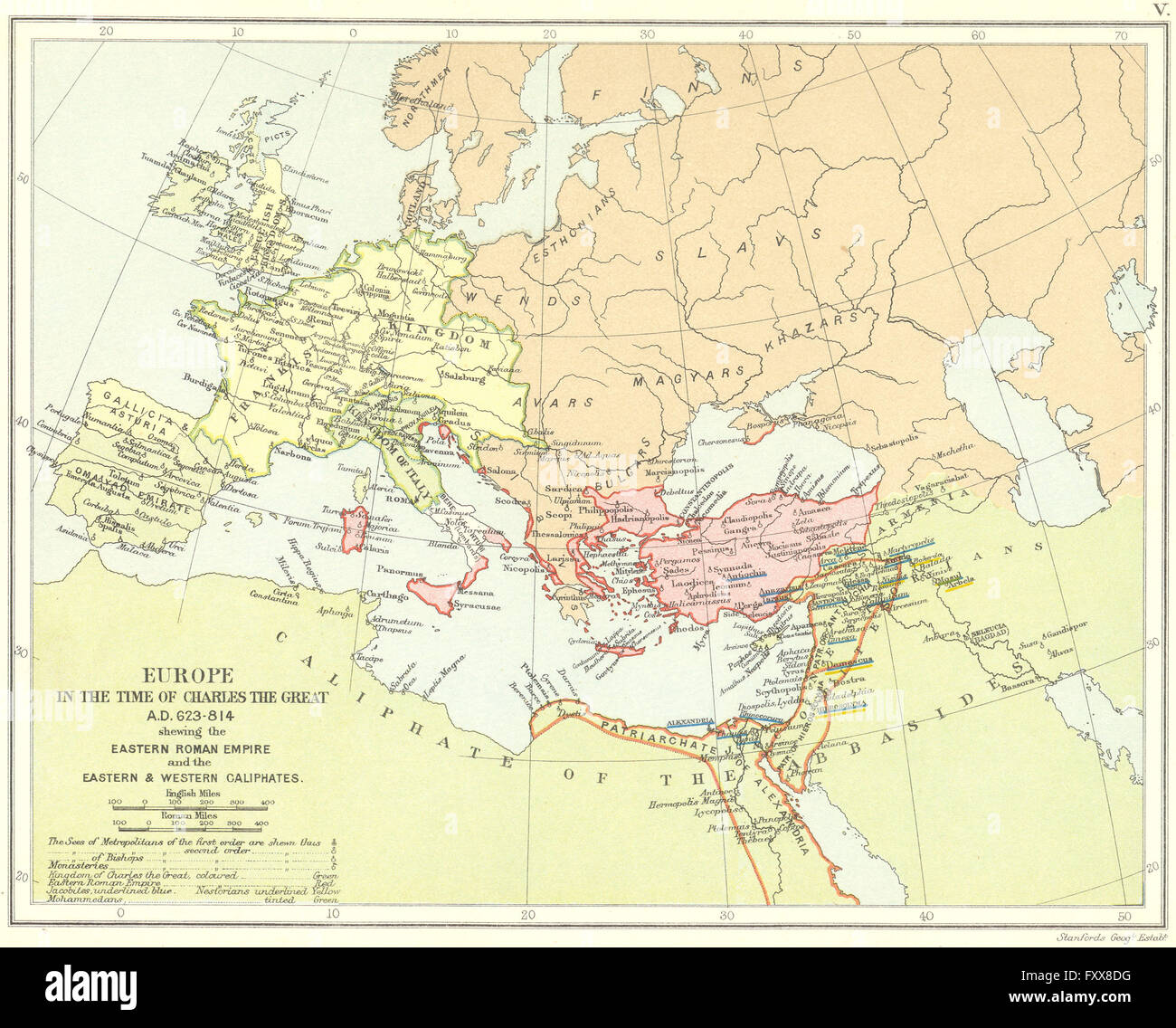 Europe 623 814ad Frankish Empire Eastern Roman Empire Caliphates