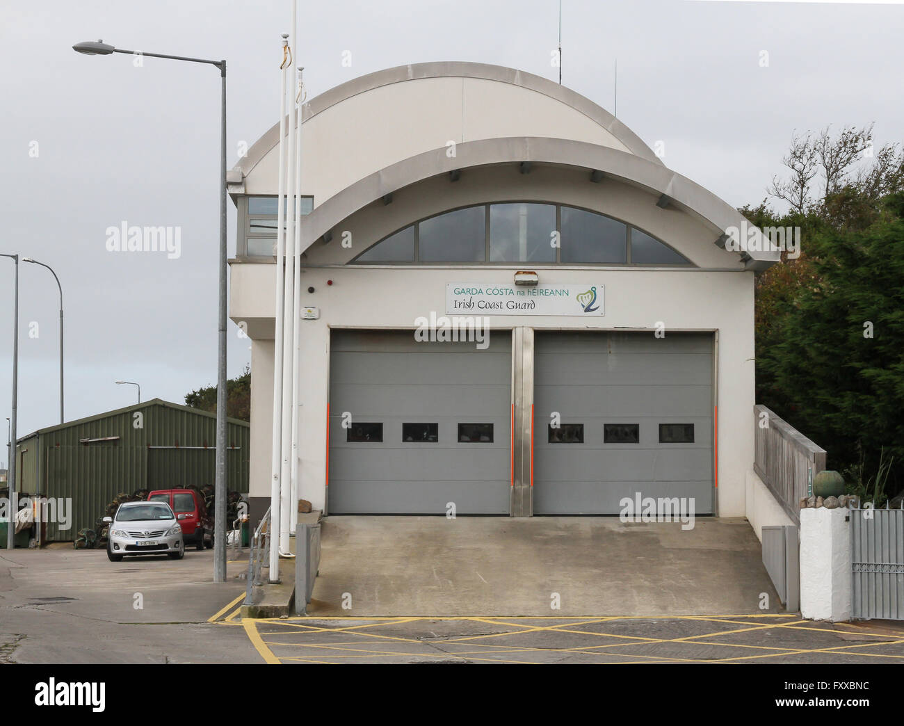 The Irish Coast Guard Station at Bunbeg, Co Donegal. - Stock Image