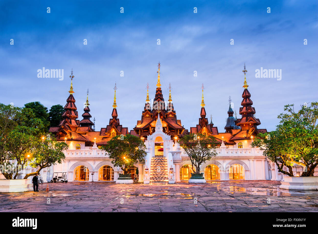 Chiang Mai, Thailand traditional hotel. - Stock Image