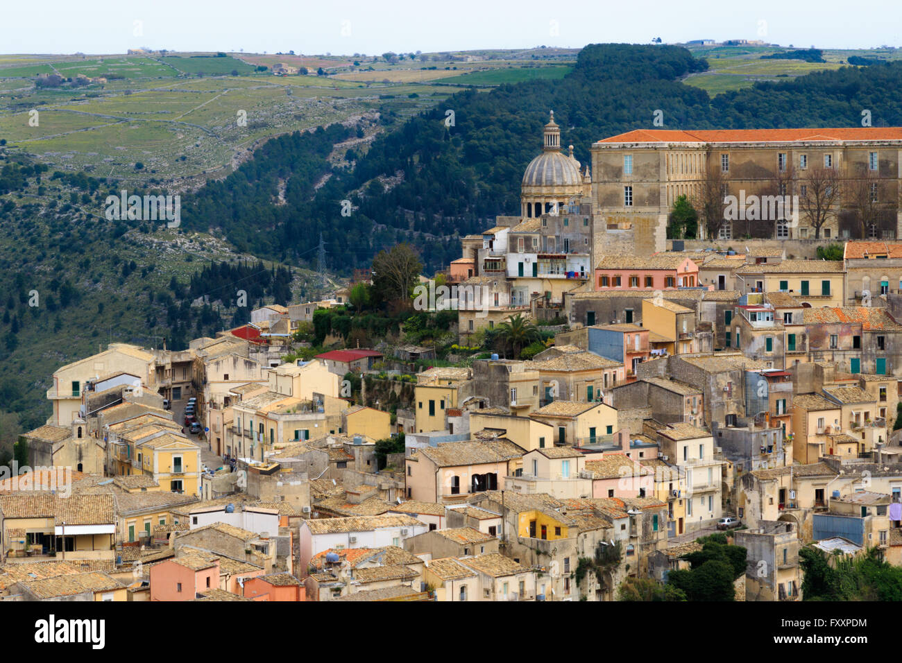 Old Town in Ragusa, Sicily, Italy - Stock Image