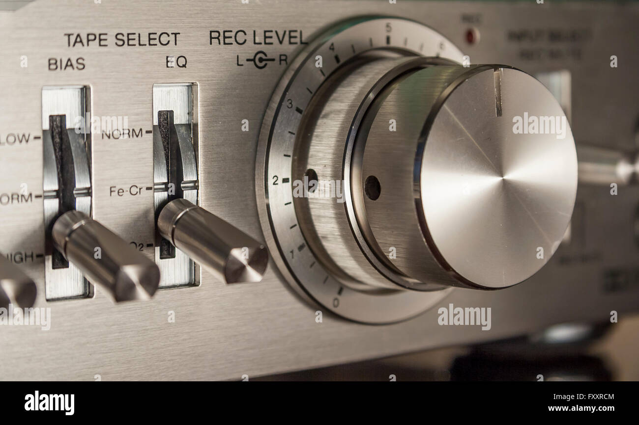 Vintage Stereo Cassette Recorder - Stock Image