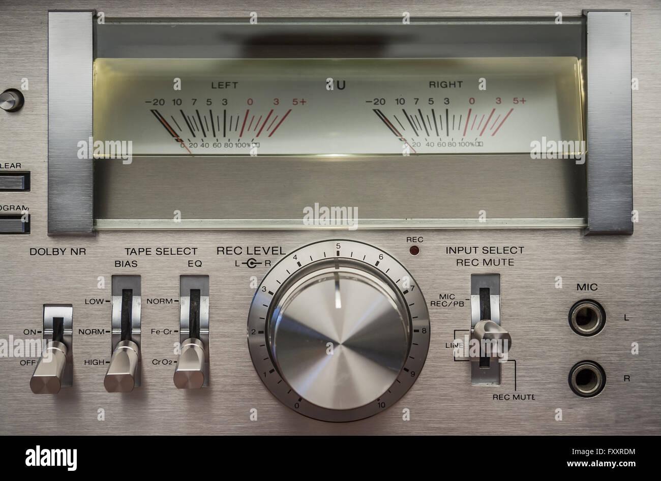 Vintage Cassette Recorder - Stock Image
