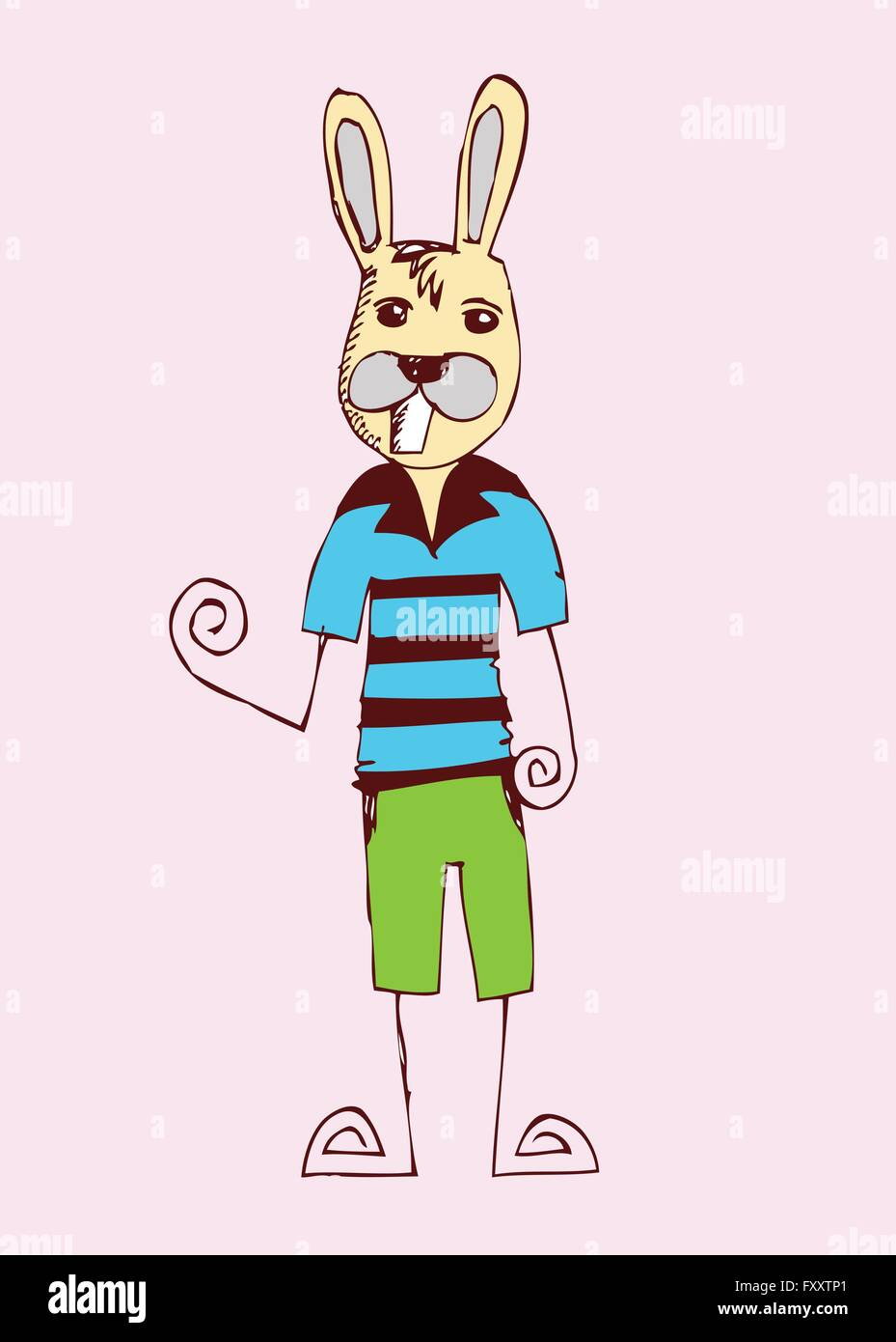 cartoon animals collection  in Jaidee Family Style - Stock Image